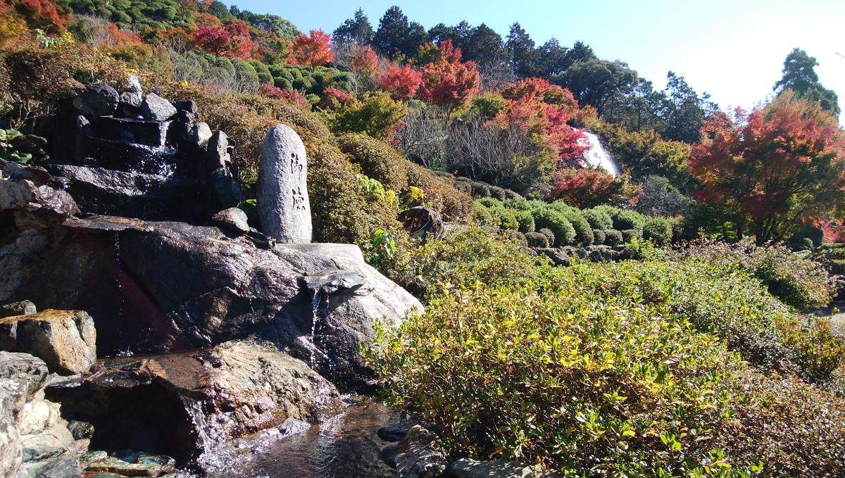 十可苑 2019年11月 紅葉を楽しむ つつじ広場と文殊の滝