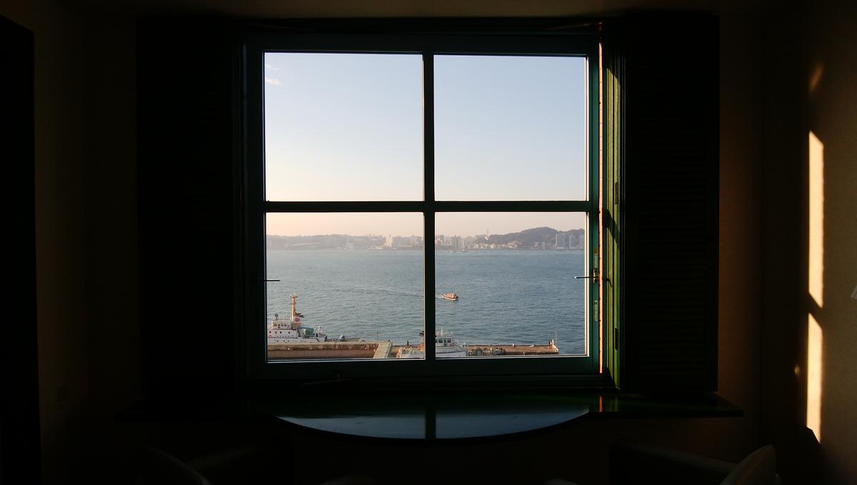プレミアホテル門司港(旧門司港ホテル) いつまでも見れる風景です