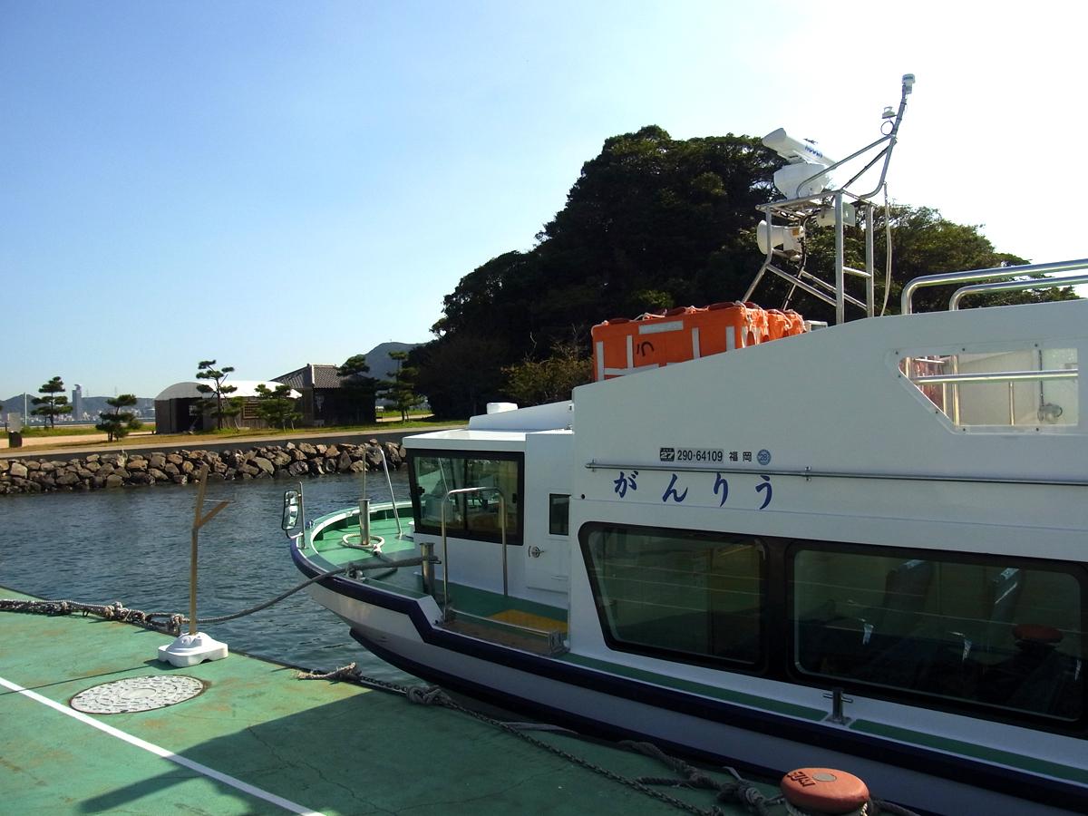 巌流島へ船で到着したところ