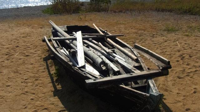 巌流島の伝馬船